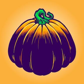 Jack o lantern pumpkins vektorgrafiken für ihre arbeit logo, maskottchen-merchandise-t-shirt, aufkleber und etikettendesigns, poster, grußkarten, werbeunternehmen oder marken.