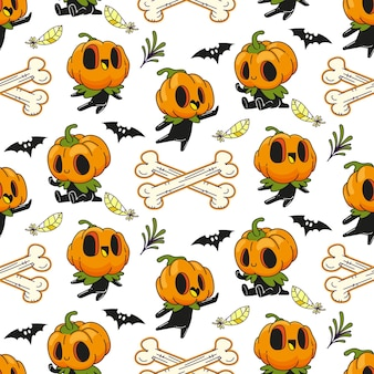 Jack o laterne halloween nahtloses muster