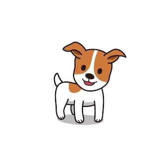 Jack-russell-terrierhund der zeichentrickfilm-figur niedlicher