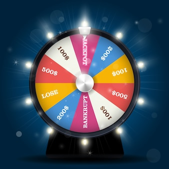 Jackpot auf glücksrad - lottogewinn