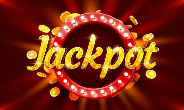 Jackpot-casino-münzen-geldautomat jetzt spielen vektor