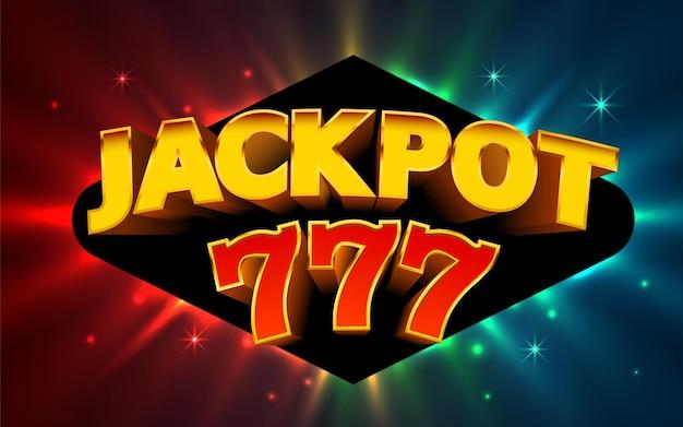 Jackpot-gewinner. online-casino-banner. 777 casino-hintergrund.