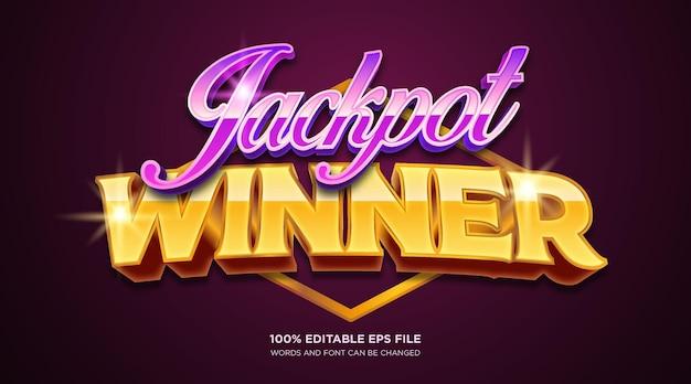 Jackpot-gewinner-text-stil-effekt