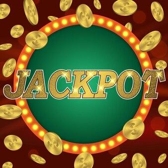 Jackpot-glücksspiel retro-banner