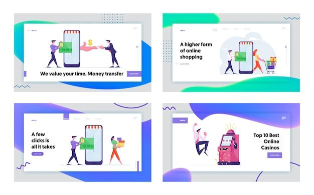 Jackpot prize win landing page template set