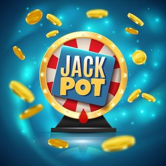 Jackpot-realistischer hintergrund