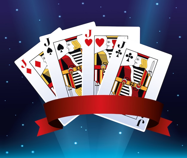 Jacks-pokerkarten, die spielende kasinofahne des spiels wetten