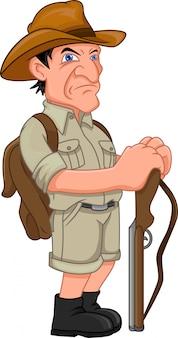 Jägermann mit schrotflinte