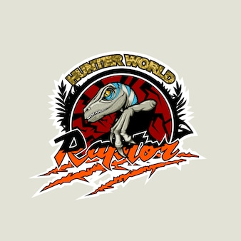 Jägerwelt, logo mit einem raubvogel in der mitte.