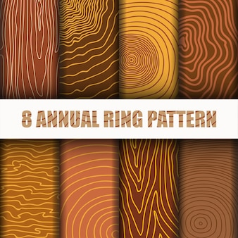 Jährliche ring pattern set-sammlung