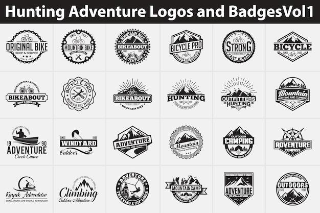 Jagd abenteuer logos und abzeichen