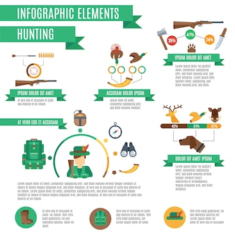 Jagd-infografik-set