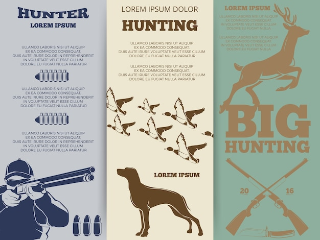 Jagdbroschürenflieger-schablonendesign