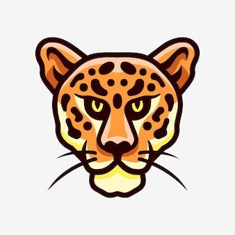 Jaguar head maskottchen sport logo