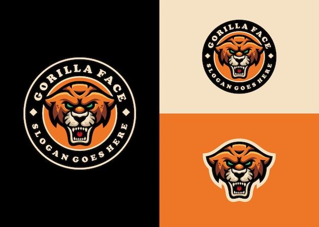 Jaguar leopard emblem maskottchen modern character logo design