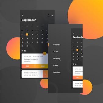 Jahr 2019, kalenderdesign.