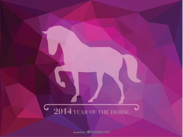 Jahr des pferdes dreieck ai design