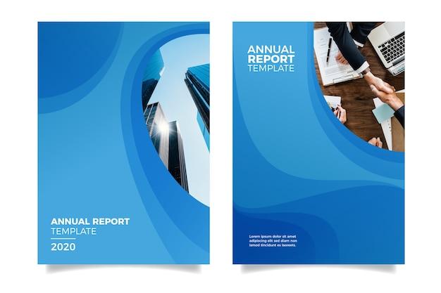 Jahresbericht mit gebäuden gestalten