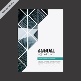 Jahresbericht mit geometrischem design