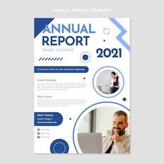 Jahresbericht mit minimaler technologie im flachen design