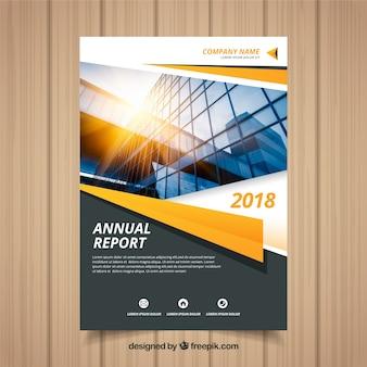 Jahresberichtabdeckung mit foto