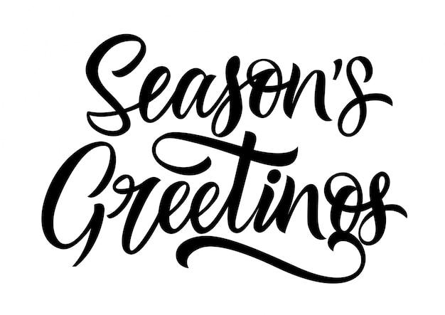 Jahreszeiten grüße schriftzug