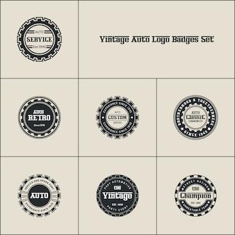 Jahrgänge auto logo badges set