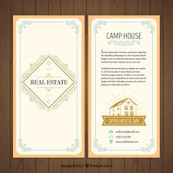 Jahrgang dekorativen immobilien-flyer