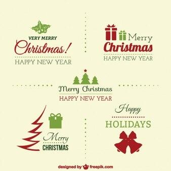 Jahrgang eleganten weihnachts abzeichen