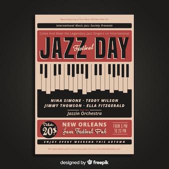 Jahrgang internationales jazztagsplakat