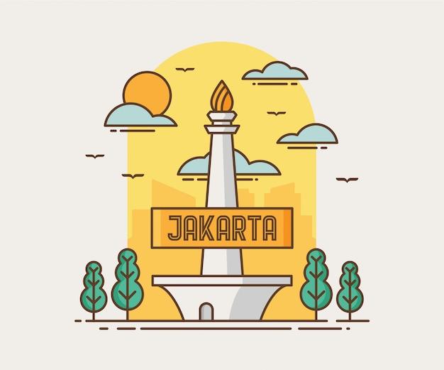 Jakarta city monas (monumen nasional)