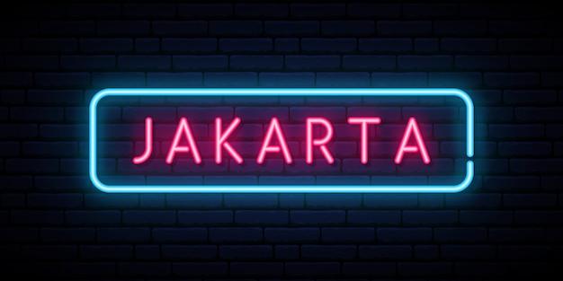 Jakarta leuchtreklame.