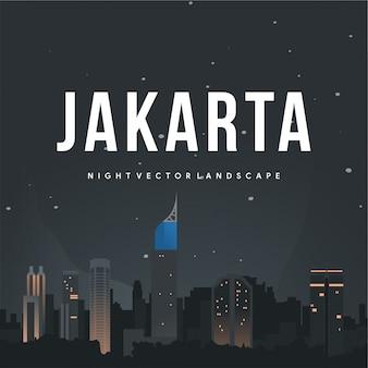 Jakarta nacht-vektor