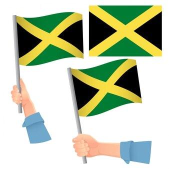 Jamaika flagge im handset