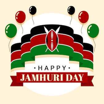 Jamhuri-tag mit flachem design