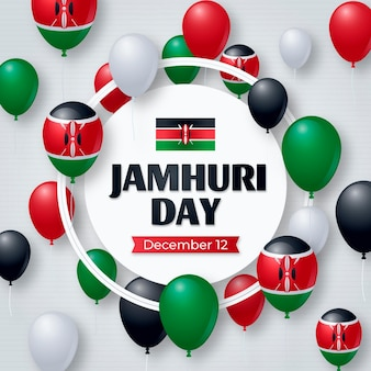 Jamhuri tag mit realistischen luftballons
