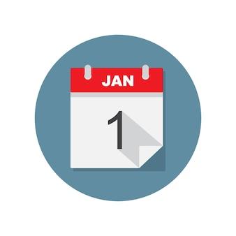 Jan 1 kalender-symbol.