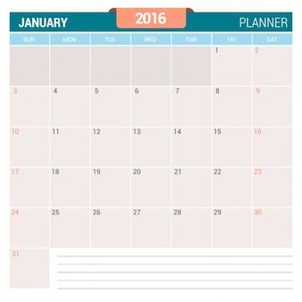 Januar kalender 2016