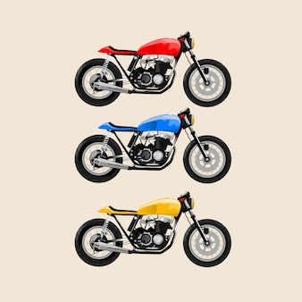 Jap style motocycle klassisch rot gelb blau