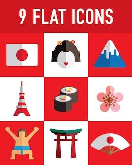 Japan flache symbol