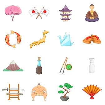 Japan icons gesetzt