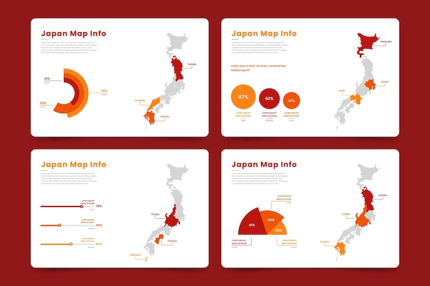 Japan karte infografik