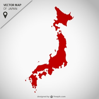 Japan kostenlose vektorkarte