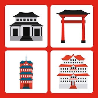 Japan-landdesign, grafik der vektorillustration eps10