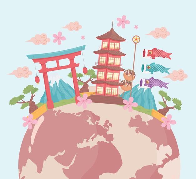 Japan reise wahrzeichen