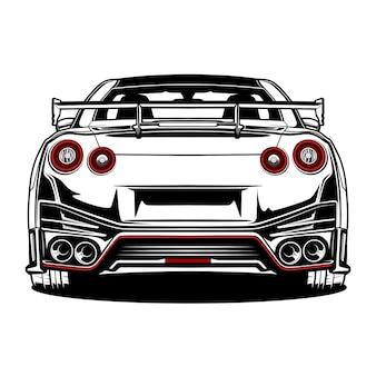 Japan sportwagen hand gezeichnet