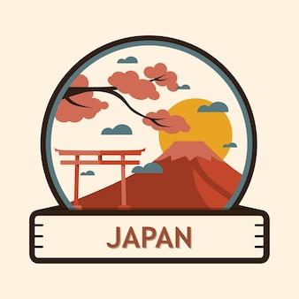 Japan stadt abzeichen