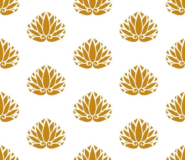 Japan-stil design blumen zeichen oder blätter symbole nahtlose textur oder muster auf weißem hintergrund