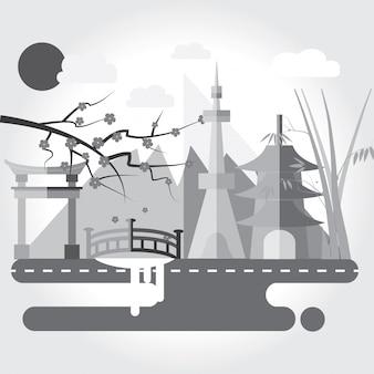 Japan wahrzeichen und reise-attraktionen