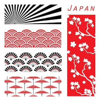 Japan wallpaper hintergrund schmücken design cartoon vektor